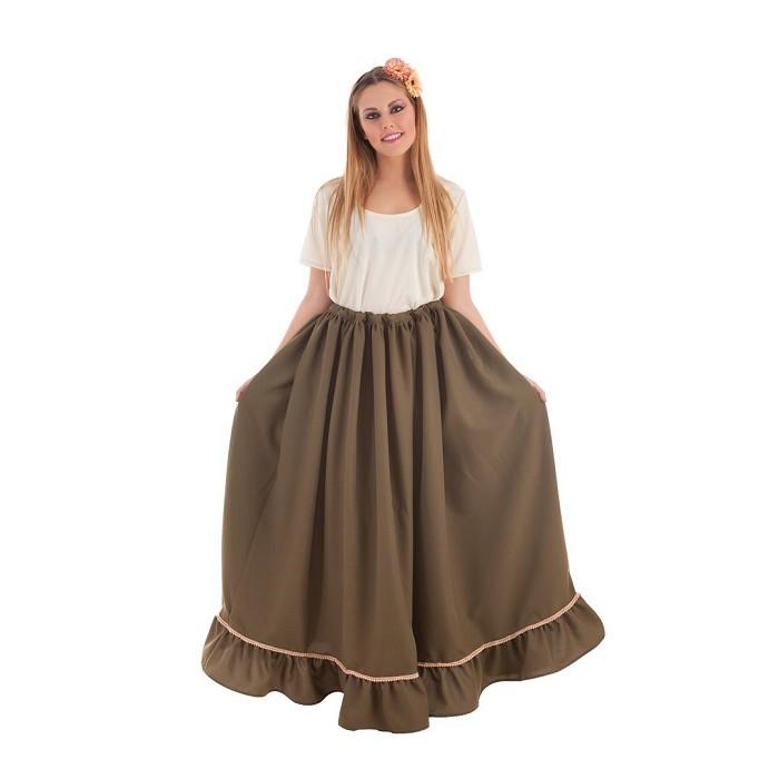 cc15d6493 Disfraz falda Medieval verde para mujer