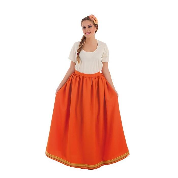 69f32b1770 Disfraz falda Medieval naranja para mujer