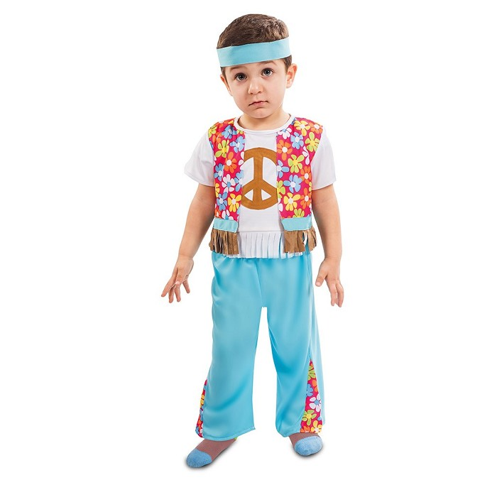 dbedf54e3 Disfraz Hippie flor para niño