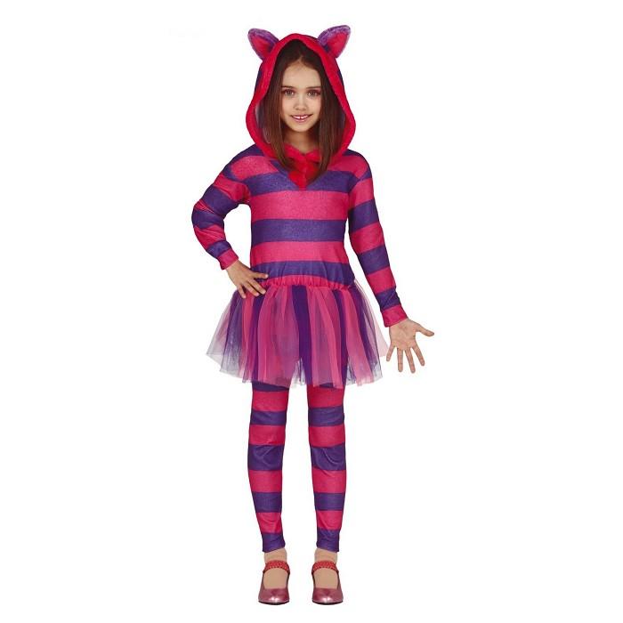 Disfraz Gato Cheshire para niña. - Dresoop