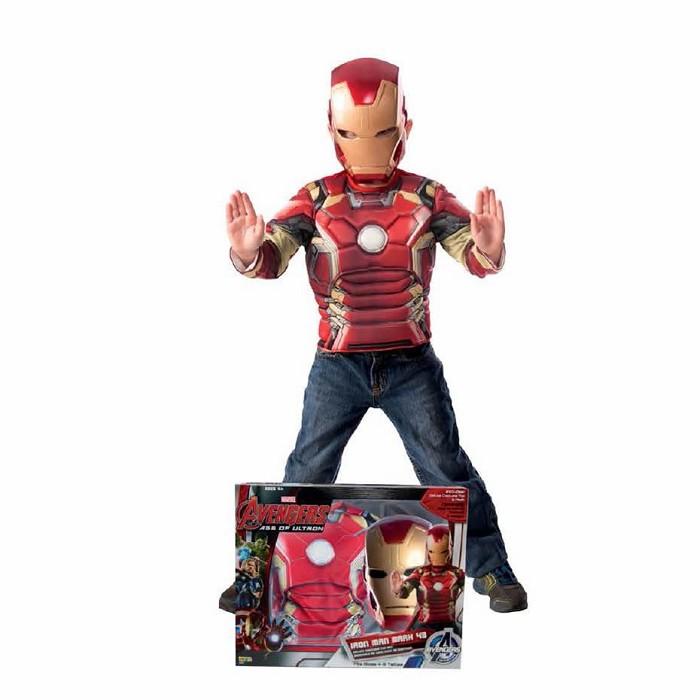 96f6ba846c2 Disfraz Iron Man Av2 en caja para niño ©