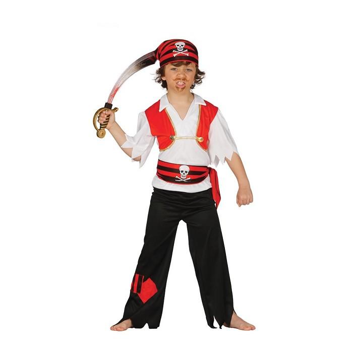 Disfraz El Pirata Chaleco para niño  78d3816f0ac1