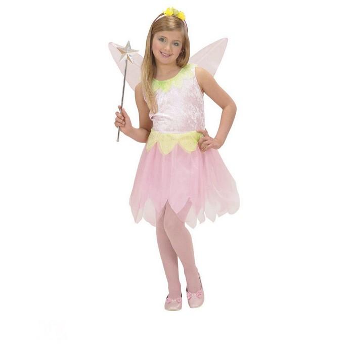 d1e8528aa1f Disfraz Hada de los bosques rosa para niña