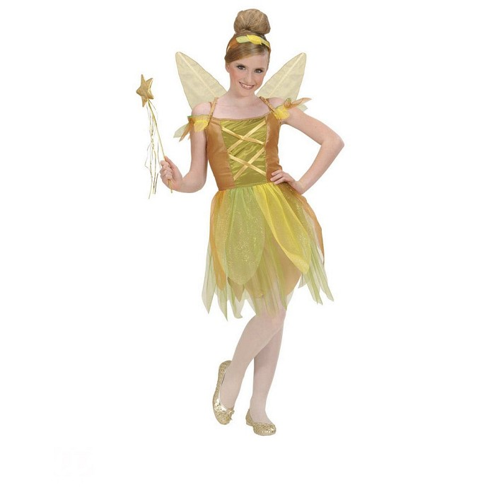 33a098cf244 Disfraz Hada del bosque dorada para niña