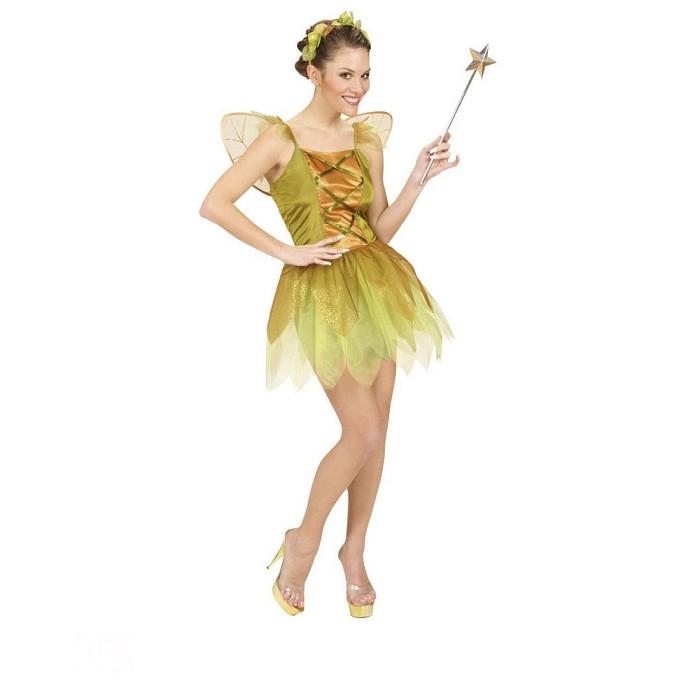 5d140d56b91 Disfraz Hada del bosque dorada para mujer