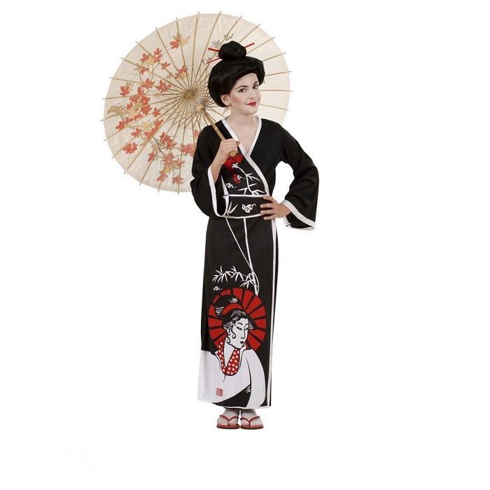 Disfraz Geisha Negra Para Niña Dresoop