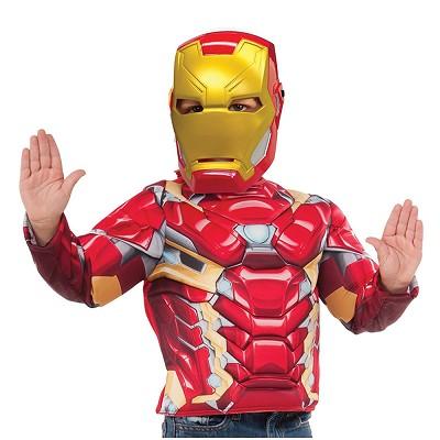 2d26207100b Set disfraz Iron Man musculoso para niño © en Dresoop
